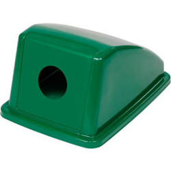 """Global Industrial Recycling Bottle & Can Lid - Green 13""""W x 18""""D x 9""""H"""