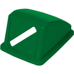 """Global Industrial Recycling Paper Lid - Green 13""""W x 18""""D x 9""""H"""