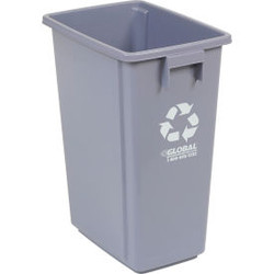 """Global Industrial Recycling Container - Gray 15 Gallon 12""""W X 18""""D X 24""""H"""