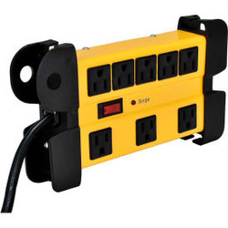 Global Industrial 8-Outlet Power Strip, 6' Cord 14/3 Lighted Switch, 1200 Joule