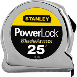"STANLEY® POWERLOCK® TAPE RULE W/ BLADEARMOR™ COATING 1"" X 25'"