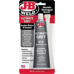 J-B Weld 3 Oz. Ultimate Grey RTV Silicone Gasket & Sealant 32327