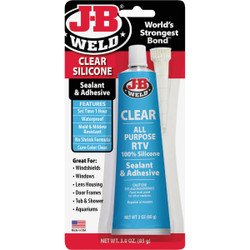 J-B Weld 3 Oz. Clear All-Purpose RTV Silicone Sealant & Adhesive 31310