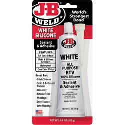 J-B Weld 3 Oz. White All-Purpose RTV Silicone Sealant & Adhesive 31312