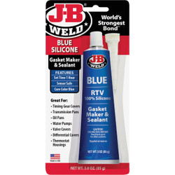 J-B Weld 3 Oz. Blue RTV Silicone Gasket & Sealant 31316