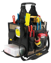 Soft Side Tool Bags, 23 Compartments, 19 in X 10 in