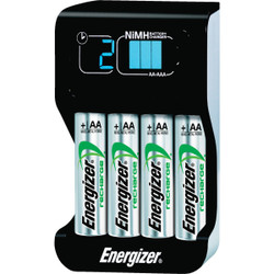 Energizer (2) or (4) AA, or AAA NiMH Smart Battery Charger CHPROWB4