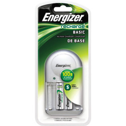 Energizer Recharge (2) or (4) AA, or AAA NiMH Value Battery Charger CHVCWB2