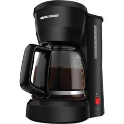 Black & Decker 5 Cup Black Coffee Maker CM0700B