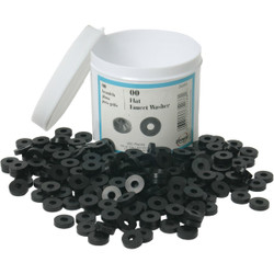 Danco 1/2 In. Black Flat Faucet Washer (200 Ct.) 35266