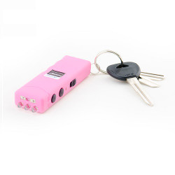Guard Dog Security Guard Dog Hornet Keychain Stun Gun and LED Flashlight Pink
