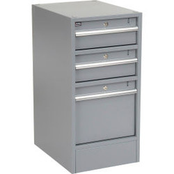 Global Industrial Premium 3 Drawer Workbench Pedestal with Built-In Base