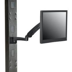 Global Industrial Gas Spring LED/LCD Flat Panel Monitor Arm with VESA Plate, Bla