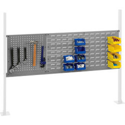 """Global Industrial 18"""" Pegboard & 36"""" Louver Panel Kit, 60""""W, Gray"""
