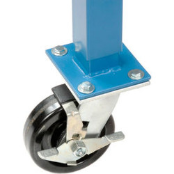 """Global Industrial 5"""" Phenolic Swivel Casters with Brakes Blue - Set of 4"""