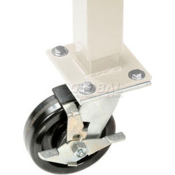 """Global Industrial 5"""" Phenolic Swivel Casters with Brakes Tan - Set of 4"""