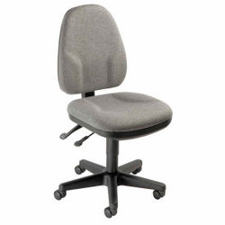 Interion Task Chair With Mid Back, Fabric, Gray