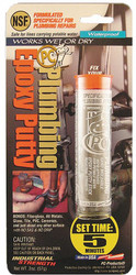 Pc Products Putty,2 Part Plumbing Epoxy,2 Oz Pkg,Gry  025598