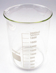 Lab Safety Supply Beaker,Low Form,2000mL,Non-Sterile,PK4 HAWA 5YGZ8