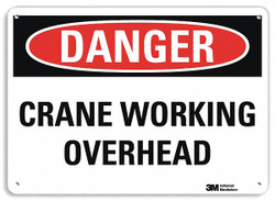 Lyle Danger Sign,7 in x 14 in,Aluminum HAWA U3-1283-RA_14X10