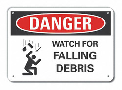 Lyle Construct Area Danger Sign,10x14in,Alum HAWA LCU4-0255-NA_14X10