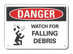 Lyle Rflctv Construct Area DangerSign,10x14in HAWA LCU4-0255-RA_14X10