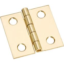 National 1 In. x 1 In. Brass Medium Decorative Hinge (4-Pack) N211334