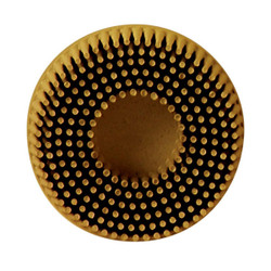 Scotch-Brite Roloc Bristle Disc 07525, 2 in x 5/8 Tapered MED