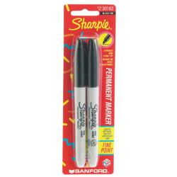 Sharpie Black Fine Point Permanent Marker (2-Pack) 30162-SH Pack of 6