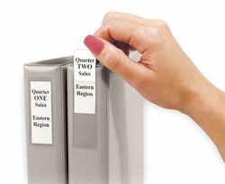 C-Line Products Label Holder,1in Binder,PK12 HAWA 70013