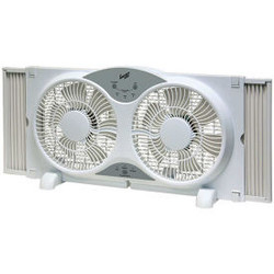 """Comfort Zone CZ310R 9"""" Reversible Twin Window Fan with Remote Control"""