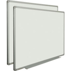 Global Industrial Porcelain Dry Erase White Board - 36 x 24 - 2 Pack