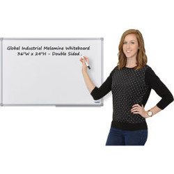 Global Industrial Melamine Dry Erase Whiteboard - 36 x 24 - Double Sided