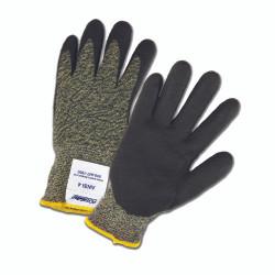 10 gauge Aramid/Polyamide Cut Resistant Glove with Black Foam Nitrile Palm Coat