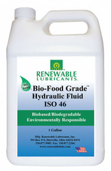 Renewable Lubricants Bio-Food Grade Hydraulic Fluid,1 Gal,46 HAWA 87133