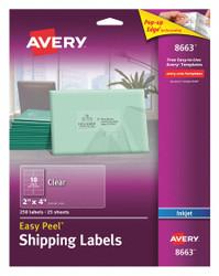 """Avery Inkjet Label,2"""" H,4"""" W,PK25 HAWA 727828663"""