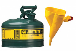 Justrite Type I Safety Can,1 gal.,Green,11In H HAWA 7110410