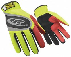 Ringers Gloves Mechanics Gloves,Hi-Vis Yellow,XL,PR HAWA 118-11