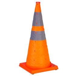 """TruForce™ Collapsible Cones w/ Light, 28"""", Orange, 5/Pkg"""