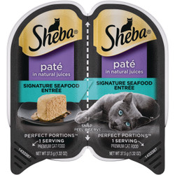Sheba Perfect Portions Pate 2.6 Oz. Adult Signature Seafood Wet Cat Food 798763 Pack of 24