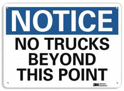 Lyle Notice Sign,10 inx14 in,Aluminum HAWA U5-1421-NA_14x10