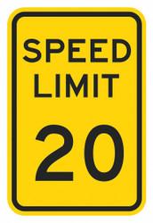 """Lyle Speed Limit Warning Traffic Sign,18""""x12"""" HAWA T1-5018-DG_12x18"""