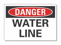 Lyle Water Line Danger Labl,3.5x5in,Polyester  LCU4-0334-ND_5X3.5