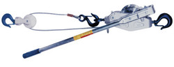 Cable Ratchet Hoist-Winches, 2 Tons Capacity, 20 Ft Lifting Height, 110 Lbf