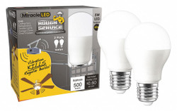 Miracle Led LED Bulb,Shape A15,500 lm,PK2  602113