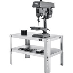 """Global Industrial Adjustable Height Machine Stand, 430 Stainless Steel, 36""""W x 2"""