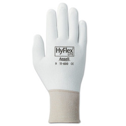 Hyflex® 11-600 Palm-Coated Gloves, Size 8, White