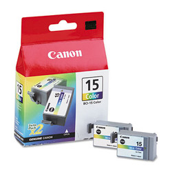 BCI15 (BCI-15) Ink, 130 Page-Yield, Tri-Color, 2/Pack BCI15