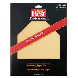 Do it Best Premium Plus 9 In. x 11 In. 320 Grit Ultra Fine Sandpaper (3-Pack)