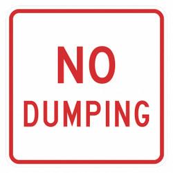 Lyle Reflective No Dumping Sign,12x12in,Alum HAWA T1-1698-EG_12x12